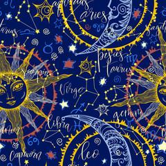 Seamless with zodiac