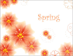 Abstract background for spring season. Vector Illustration