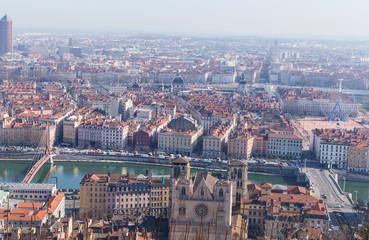City of Lyon, France at sunny day