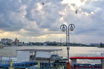 Tulcea harbor, Danube Delta, Romania