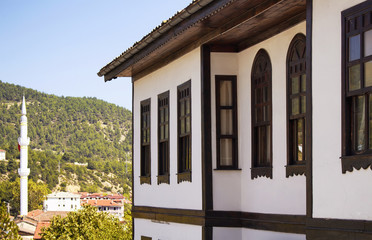 Traditional, old and historical Anatolian house (mansion) in Tarakli historic district in northwestern Turkey. It is surrounded by forest and located approximately midway between Istanbul and Ankara