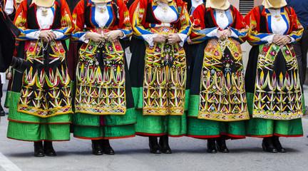 CAGLIARI, ITALIA - MAGGIO 1, 2016: 360^ Festa di Sant'Efisio - sfilata dei costume tradizionali sardi - Sardegna