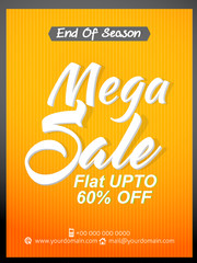 nice and creative vector template for mega sale abstract with beautiful design illustration.