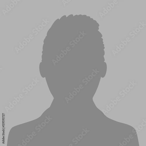 Default avatar profile icon  Grey photo placeholder