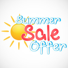 nice and creative vector template for summer sale offer abstract with beautiful design illustration.