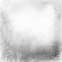 old white paper background with distressed vintage texture, faded peeling gray paint on old tin or silver metal design