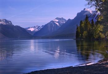 Lake McDonald Reflection Glacier National Park Montana