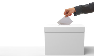 Voter on white background. 3d illustration
