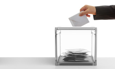 Voter on white background. 3d illustration