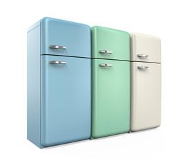 Retro Refrigerators Isolated