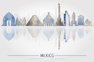 Business Travel and Tourism Concept with Historic Mexico Architecture