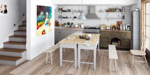 Küche: renoviert