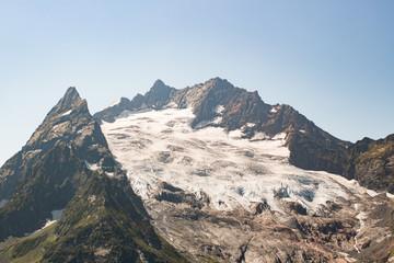 Mountain landscape. Caucasus winter view