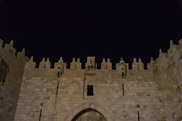 Damascus gate of old city Jerusalem
