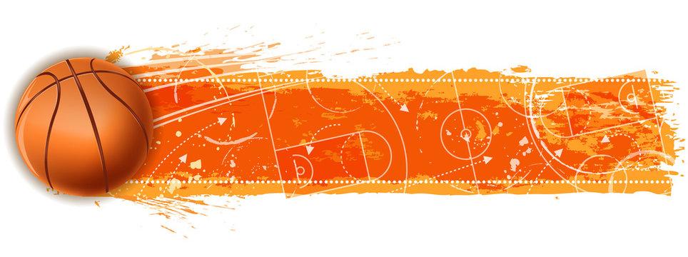 basketball field banner