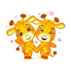 Emoji have date let s go out character cartoon friends Giraffe sticker emoticon