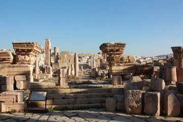 Ruins of the ancient city Jerash in Jordan, Middle East