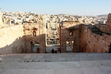 Nymphaeum in Jerash in Jordan, Middle East