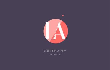 la l a  retro vintage rhombus simple black white alphabet letter logo