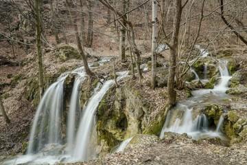Beautiful waterfall in forest/Haj waterfall in Slovakia