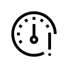 Speed limit mini line, icon