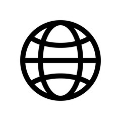 Globe mini line, icon