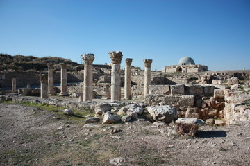 Umayyad Palace on the Citadel Hill in Amman in Jordan, Middle East