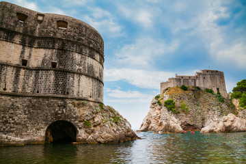 Papiers peints Fortification Fort Bokar and Fort Lovrijenac in Dubrovnik