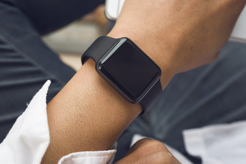Close up of smartwatch