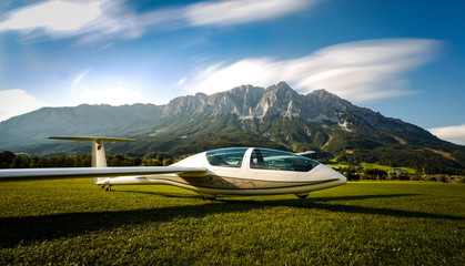 glider in the alps