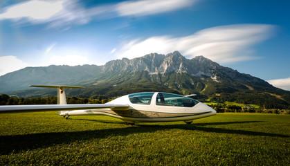 glider in the alps