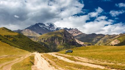 Kazbek in clouds