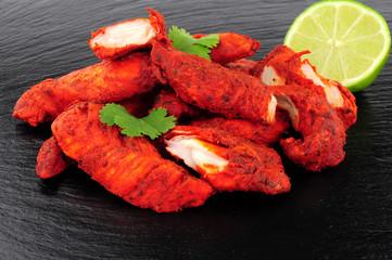 Tandoori Chicken On A Slate Background