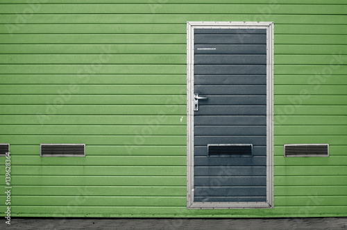Garage Gate With Ventilation Grilles Large Automatic Up And Over