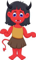 Cartoon devil girl for you design