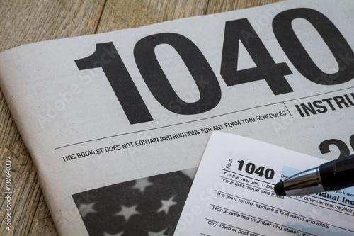 Tax Preparation Form Us 1040 Instructional Booklet Generic No Year