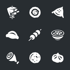 Vector Set of Food Icons.