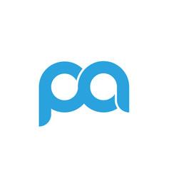 Obraz Initial letter pa modern linked circle round lowercase logo blue - fototapety do salonu