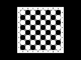 The chessboard on a black background