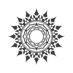 Abstract decorative element. Star.