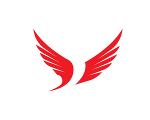 Bird wings logo bird