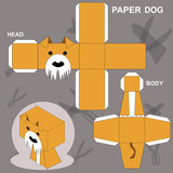 Dog Paper Craft Template