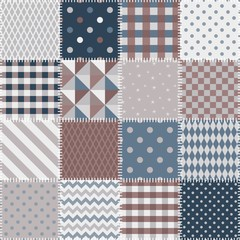 Quilting design background. Seamless patchwork pattern. Vector illustration.