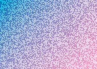 Vector abstract bright mosaic gradient pink blue background