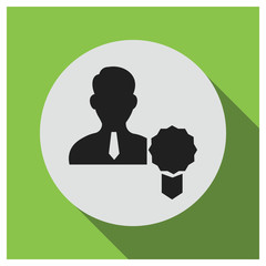 Person badge vector icon