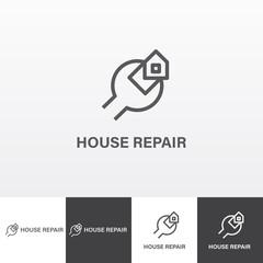 House repair services vector logo eps