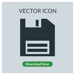 Floppy disk vector icon