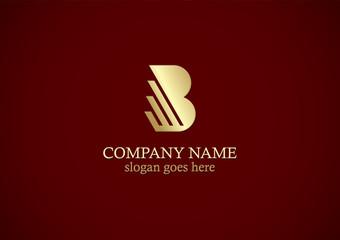 gold letter b company logo