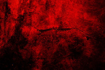 Red cement wall background.
