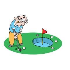 novice golfer